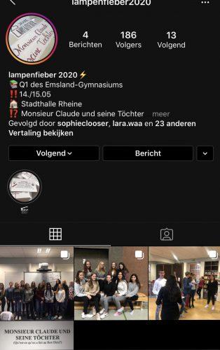 Link zur Seite: https://www.instagram.com/lampenfieber2020/?hl=de